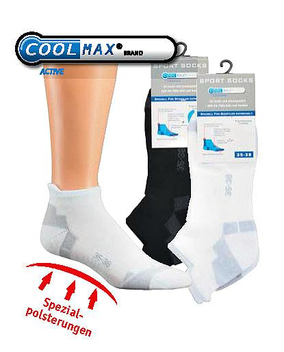 3 Paar CoolMax Sneakersocken freie Farb und Größenwahl