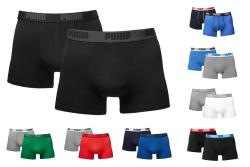 2 Puma Basic Boxershorts (Doppelpack), verschiedene Farben, von S - XL