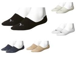 4 Paar PUMA Unisex Basic Footie, Füßlinge in 5 Farben