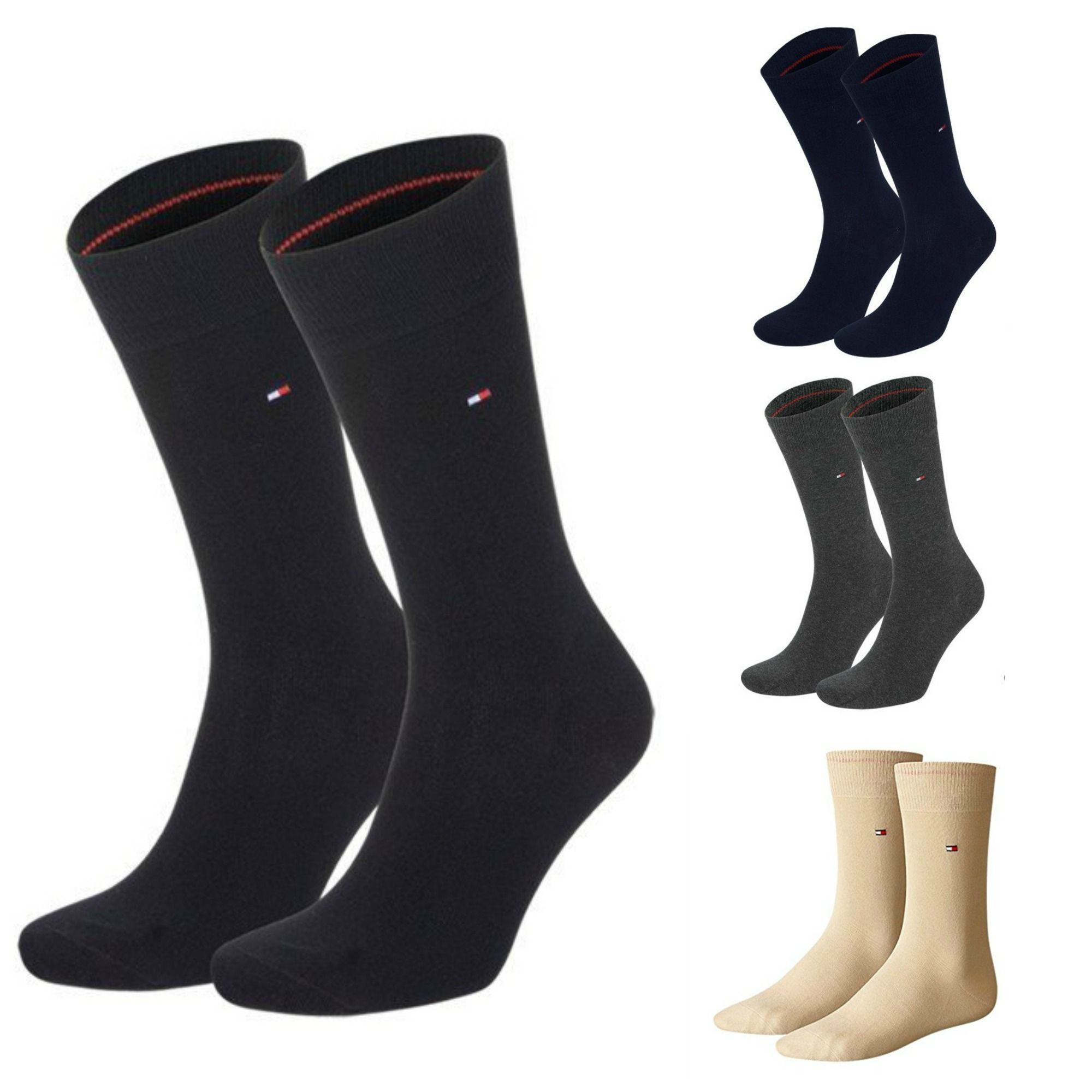 4 Paar Tommy Hilfiger Herren Casual Business Socken